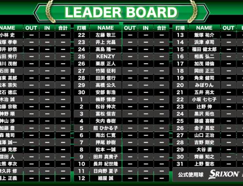 パッティングツアー 第6戦(栃木大会)競技表