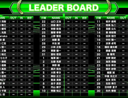 パッティングツアー 第8戦(茨城大会)競技表